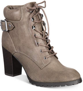 Style&Co. Style & Co Caitlin Lace-Up Combat Booties, Created for Macy's Women's Shoes