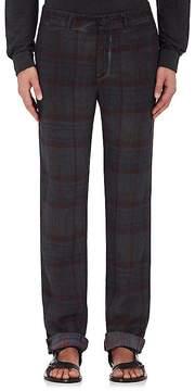 Massimo Alba Men's Linen Madras Trousers