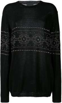 Laneus studded pattern sweatshirt