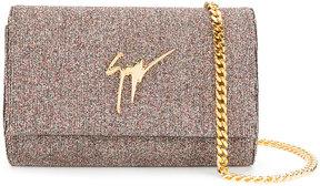 Giuseppe Zanotti Design Lory Bright glitter clutch bag