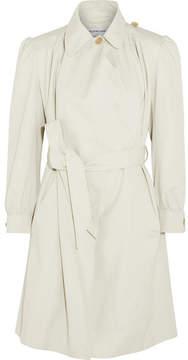 Balenciaga Pulled Feminin Ruched Cotton-canvas Coat - Gray