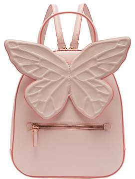 Sophia Webster Kito Butterfly Appliqued Leather Backpack - Womens - Light Pink