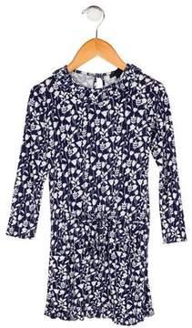 Oscar de la Renta Girls' Floral Print Dress