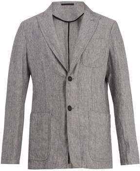Giorgio Armani Peak-lapel linen blazer