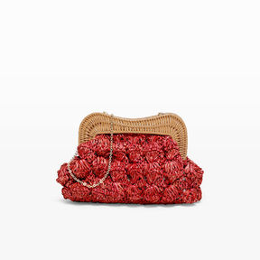 Kayu Red Straw Clutch