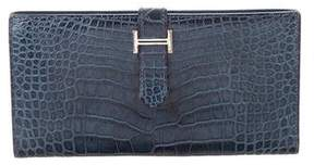 Hermes Alligator Bearn Wallet - BLUE - STYLE