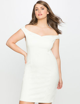 ELOQUII Sweetheart Off the Shoulder Dress