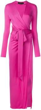 Alexandre Vauthier side split wrap-front evening dress