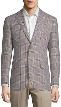 Lubiam Men's Plaid Slim Sportcoat
