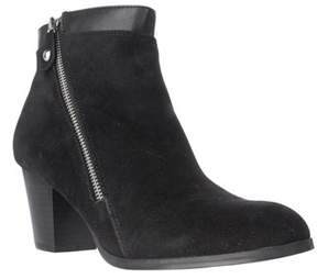 Style&Co. Sc35 Jenell Side Zip Ankle Boots, Black.