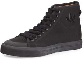 Adidas By Raf Simons Men's Spirit Canvas High-Top Sneakers, Black