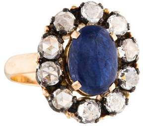 Amrapali 18K Blue Sapphire & Diamond Cocktail Ring