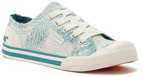 Rocket Dog Jazzin Green Jungle Palm Canvas Sneaker