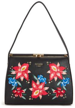 GUESS Manhattan Floral Embroidered Shoulder Bag