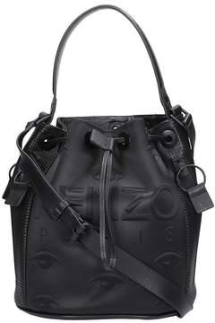 Kenzo Black Leather Bucket Kombo Bag