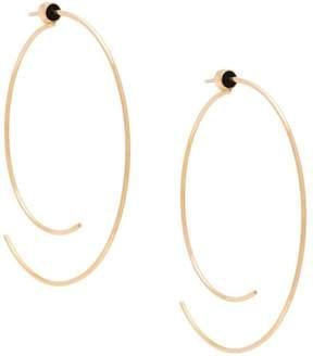 Diane Kordas open curved hoop earrings