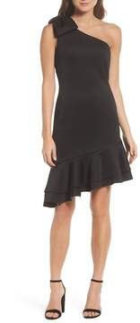 Eliza J One-Shoulder Asymmetric Dress