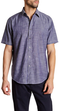 James Campbell Standish Short Sleeve Trim Fit Woven Shirt