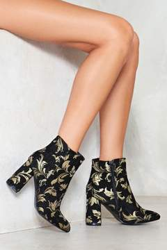 Nasty Gal nastygal We'll Come to Your Brocade Heel Bootie