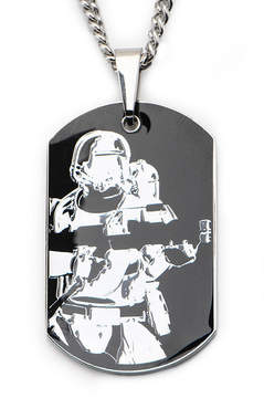 Star Wars FINE JEWELRY Episode 7 Mens Two-Tone Stainless Steel Stormtrooper Dog Tag Pendant Necklace