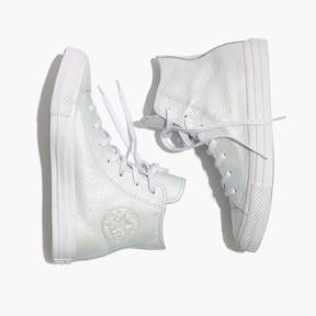 Madewell Converse® Chuck Taylor All Star High-Top Sneakers in Iridescent Leather