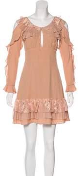 For Love & Lemons Ruffled Mini Dress w/ Tags