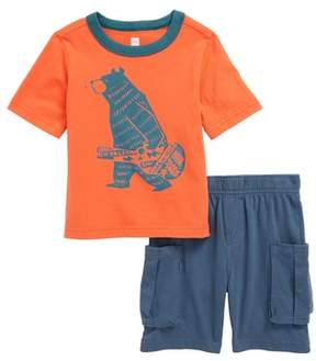 Tea Collection Baby Bear T-Shirt & Cargo Shorts Set