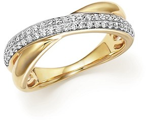 Bloomingdale's Diamond Pavé Crossover Band in 14K Yellow Gold, .30 ct. t.w. - 100% Exclusive
