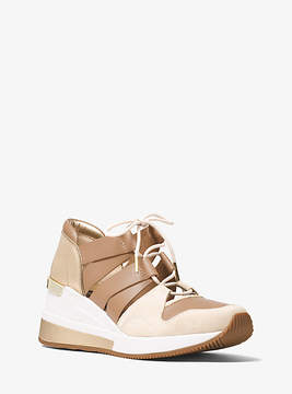 Michael Kors Beckett Suede And Leather Sneaker