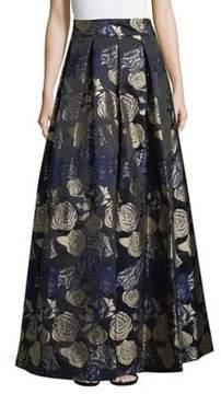 Eliza J Floral-Print Ball Skirt