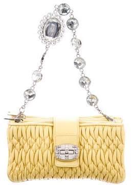 Miu Miu Matelassé Nappa Embellished Bag
