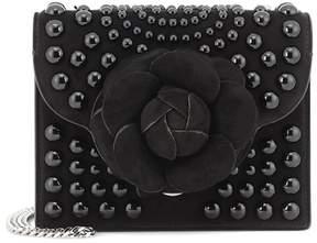 Oscar de la Renta TRO embellished suede shoulder bag