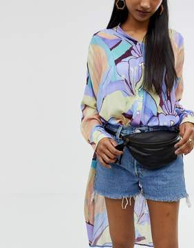 Asos DESIGN leather classic fanny pack
