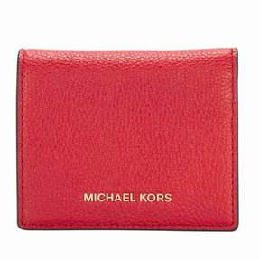 Michael Kors Mercer Card Holder- Red - ONE COLOR - STYLE