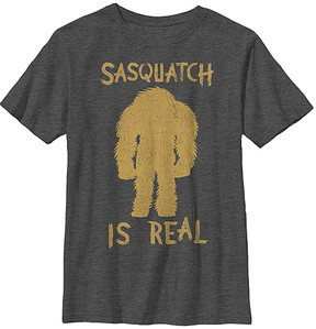 Fifth Sun Black 'Sasquatch Is Real' Crewneck Tee - Boys