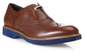 Salvatore Ferragamo Frankfort Leather Wingtip Oxfords