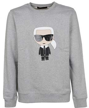 Karl Lagerfeld Men's 572911901 Grey Cotton Sweatshirt.