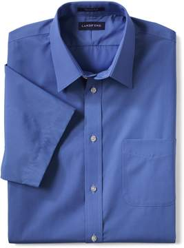 Lands' End Lands'end School Uniform Men's Big Short Sleeve Straight Collar Broadcloth Shirt