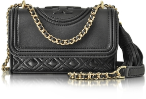 Tory Burch Fleming Black Leather Micro Shoulder Bag - ONE COLOR - STYLE
