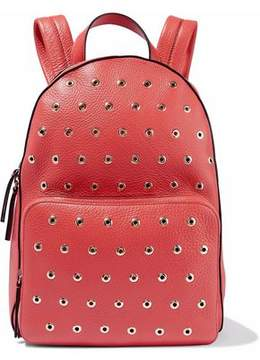 RED Valentino Eyelet-Embellished Textured-Leather Backpack