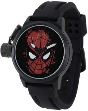 Marvel Spider-Man Mens Black Silicone Strap Crown Protector Watch