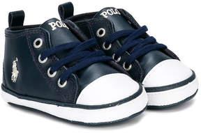 Ralph Lauren hi-top logo sneakers