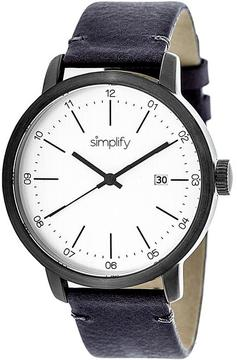 Simplify The 2500 Collection SIM2503 Men's Watch with Leather Strap