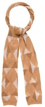 Marc Jacobs Knit Abstract-Patterned Scarf