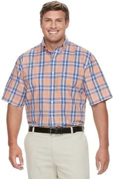 Izod Big & Tall Breeze Cool FX Regular-Fit Plaid Moisture-Wicking Button-Down Shirt