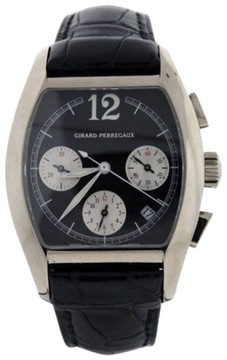 Girard Perregaux Richeville Chronograph 18K White Gold Mens Watch