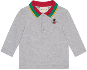Baby cotton polo with bee