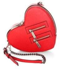 Rebecca Minkoff Jamie Heart Leather Crossbody Bag - CARNATION - STYLE