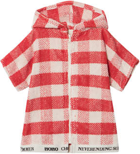 Bobo Choses Spice Route Red Baby Vichy Poncho