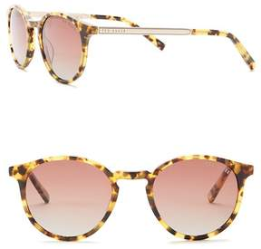 Ted Baker Round 48mm Acetate Frame Sunglasses